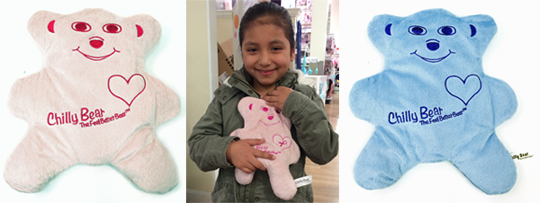 Chilly Bear - The Feel Better Bear - girl, pink bear, blue bear