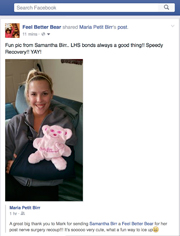 Testimonial - Samantha Birr- The Feel Better Bear